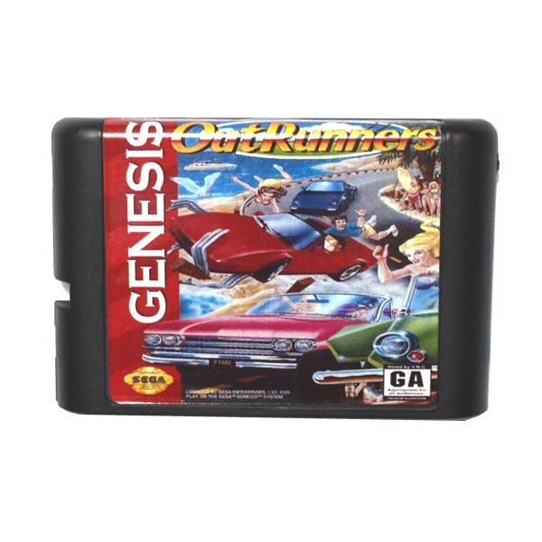 [해외]세가 MD 게임 카드 - 16 비트 세가 MD 게임 카트리지 메가 드라이브 창세기 시스템에 대한 아웃 주자/Sega MD game card - Out Runners for 16 bit Sega MD game Cartridge Megadrive Genesis sy