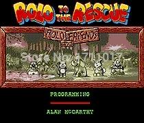 [해외]창세기를 들어 세가 메가 드라이브의 구조 16 비트 MD 게임 카드 Rold/Rold To The Rescue 16 bit MD Game Card For Sega Mega Drive For Genesis