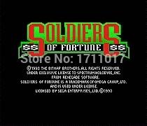 [해외]창세기를 들어 세가 메가 드라이브 용 Forturne 16 비트 MD 게임 카드의 군인/Soldiers Of Forturne  16 bit MD Game Card For Sega Mega Drive For Genesis