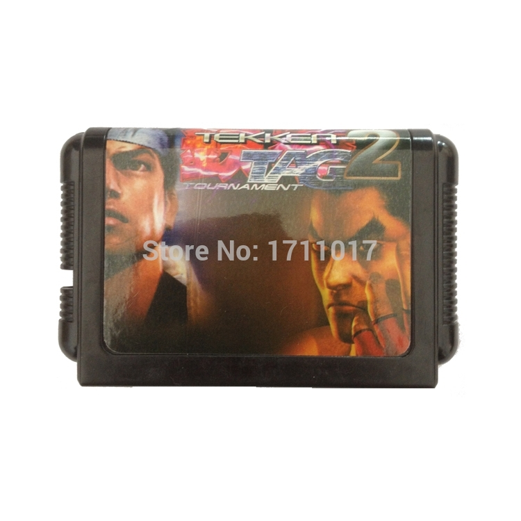 [해외]창세기를 들어 세가 메가 드라이브 용 Teken 2 VS V.R 파이터 16 비트 MD 게임 카드/Teken 2 VS V.R Fighter 16 bit MD Game Card For Sega Mega Drive For Genesis