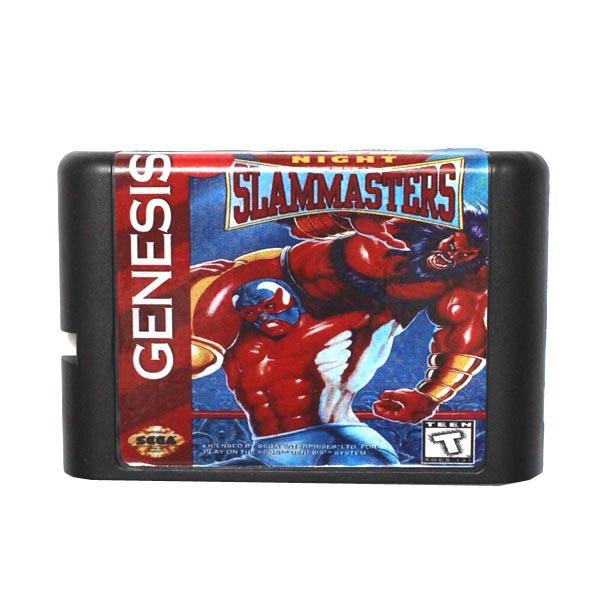 [해외]세가 MD 게임 카드 - 16 비트 세가 MD 게임 카트리지 메가 드라이브 창세기 시스템에 대한 토요일 밤 Slammasters/Sega MD game card - Saturday Night Slammasters for 16 bit Sega MD game Car