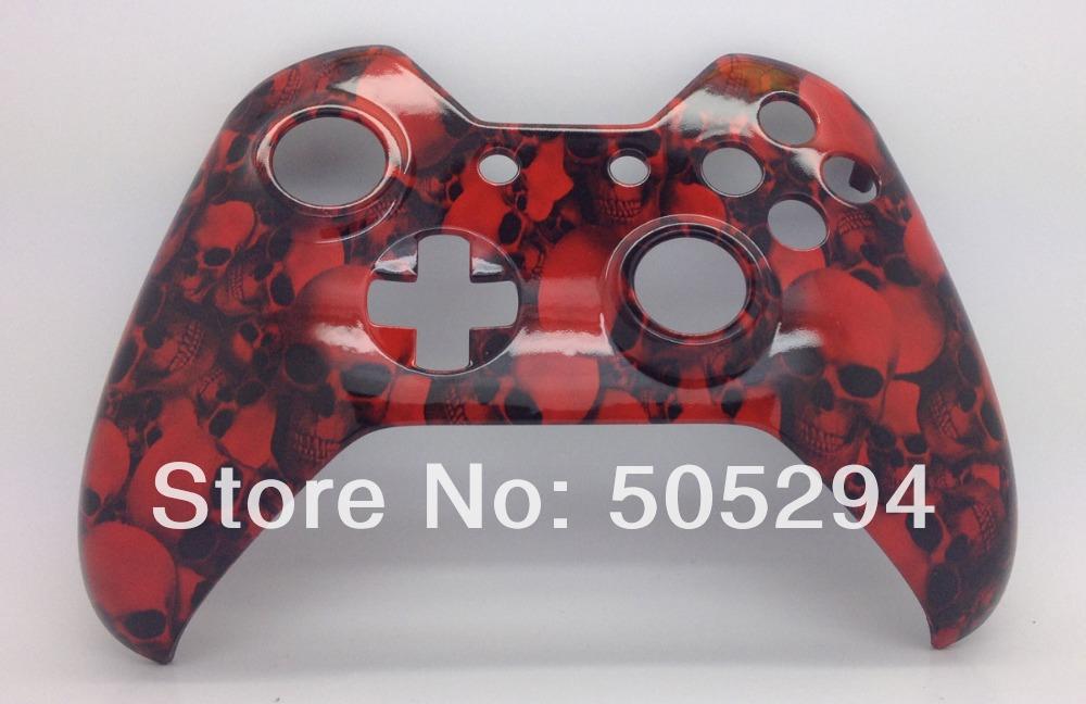 [해외]원래 전면 쉘 - 핑 (ping), X 박스에 대한 하나의 컨트롤러 하이드는 빅 레드 스컬 컨트롤러 쉘 모드를 담근/ping, for Xbox one controller Hydro Dipped  Big Red Skull Controller Shell Mod -