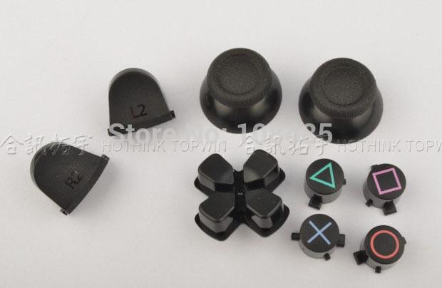 [해외]PS4 컨트롤러에 대한 새로운 대체 블랙 3D 조이스틱 아날로그 캡 L2 R2는 버튼/New Replacement Black 3D joystick analog cap L2 R2 Buttons for PS4 controller