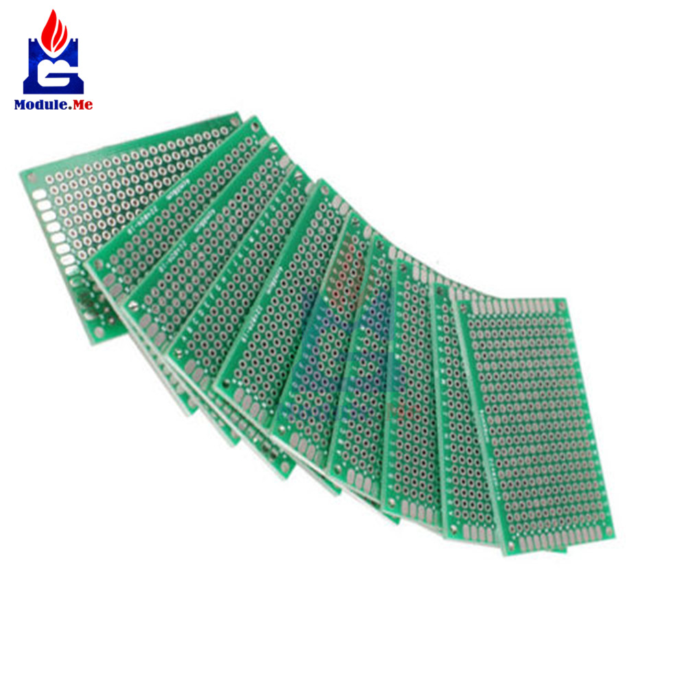 [해외]10PCS FR-4 Double Side Prototype PCB 280 Points Hole Tinned Universal Breadboard 4x6 4*6cm 40mmx60mm 40x60 4x6cm 40x60mm/10PCS FR-4 Double Side Pr