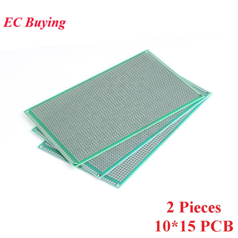 [해외]2pcs 10x15cm Double Side Prototype Universal Printed Circuit PCB Board 2.54mm Pitch Protoboard Hole Plate 10*15cm 100*150mm/2pcs 10x15cm Double Si
