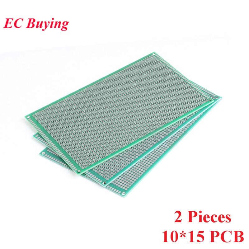 [해외]2pcs 10x15cm Double Side Prototype Universal Printed Circuit PCB Board 2.54mm Pitch Protoboard Hole Plate 10*15cm 100*150mm/2pcs 10x15cm Double Si