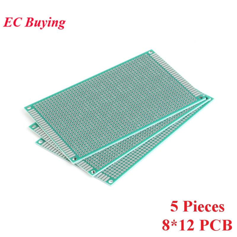 [해외]5pcs 8x12cm Double Side Prototype PCB Universal Printed Circuit Board DIY For Arduino 2.54mm Glass Fiber 8*12cm 80x120mm 80*120/5pcs 8x12cm Double