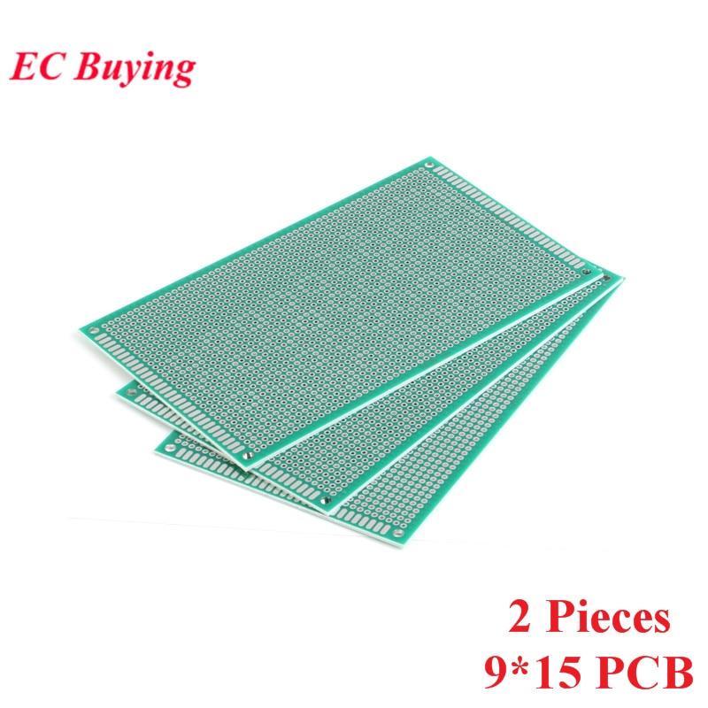 [해외]2pcs 9x15cm Double Side Prototype Universal Printed Circuit PCB Board 2.54mm Pitch Protoboard Hole Plate 9*15cm 90*150mm 90x150/2pcs 9x15cm Double