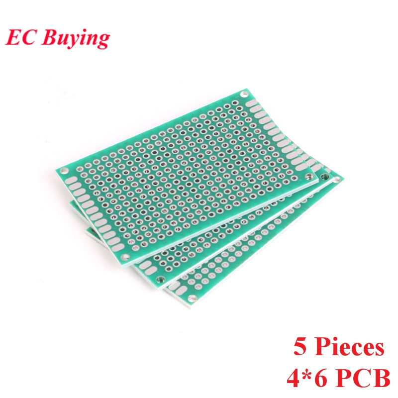 [해외]5pcs 4x6cm Double Side Prototype PCB Universal Printed Circuit Board DIY For Arduino 2.54mm Glass Fiber 4*6cm 40x60mm 40*60mm/5pcs 4x6cm Double Si