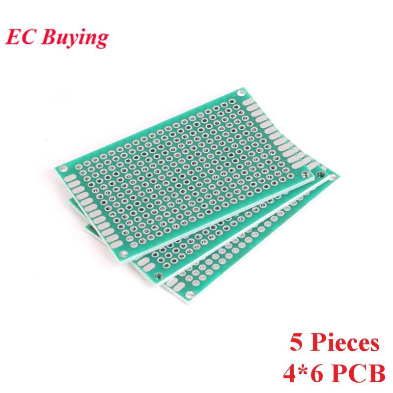 [해외]5pcs 4x6cm Double Side Prototype PCB Universal Printed Circuit Board DIY For Arduino 2.54mm Glass Fiber 4*6cm 40x60mm 40*60mm/5pcs 4x6cm Double Si