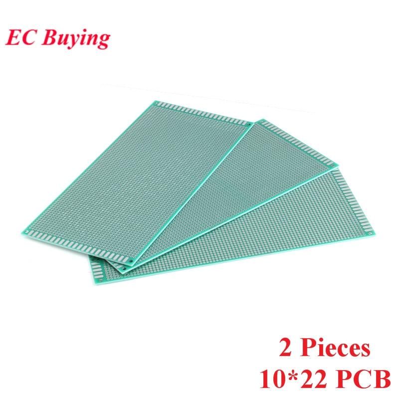 [해외]2pcs 10x22cm Double Side Prototype Universal Printed Circuit PCB Board 2.54mm Pitch Protoboard Hole Plate 10*22cm 100x220mm/2pcs 10x22cm Double Si