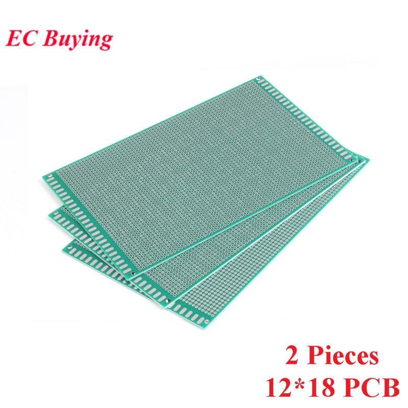 [해외]2pcs 12x18cm Double Side Prototype Universal Printed Circuit PCB Board 2.54mm Pitch Protoboard Hole Plate 12*18cm 120x180mm/2pcs 12x18cm Double Si