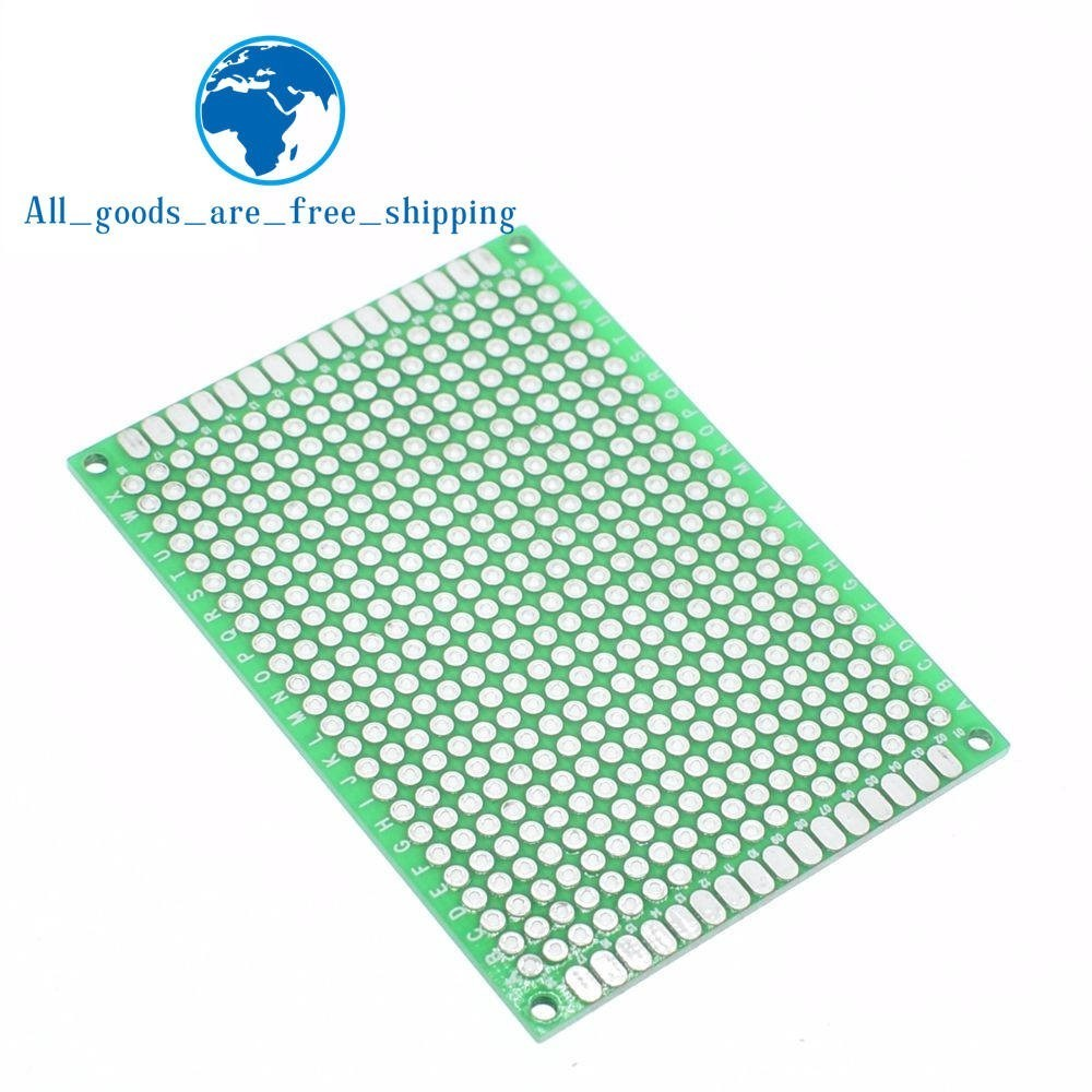 [해외]TZT 10PCS Breadboard Bread Board Prototype 5x7cm 432 Points Double side Super Highly quality Best pices  Green/TZT 10PCS Breadboard Bread Board Pr