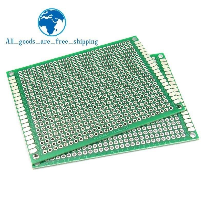 [해외]5PCS 6*8 6X8cm Double Side Prototype pcb Breadboard Universal Printed Circuit Board for Arduino 1.6mm 2.54mm Glass Fiber/5PCS 6*8 6X8cm