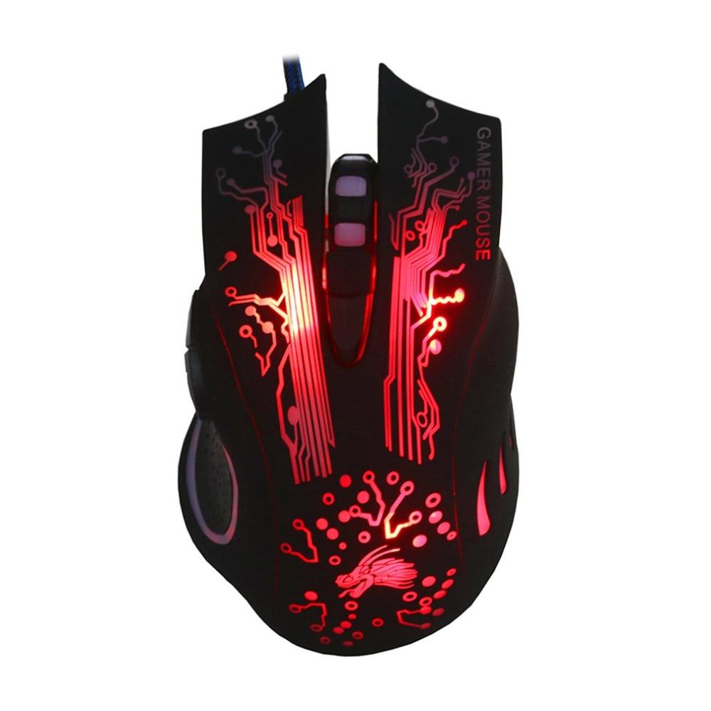 [해외]Professional K11 Wired Gaming Mouse 7 Button 2500dpi LED Optical USB Backlight Computer Mouse Gamer Mice Game Mouse/Professional K11 Wired Gaming