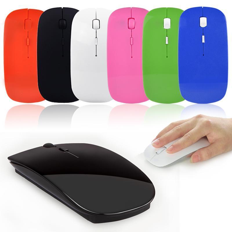 [해외]Slim 2.4GHz Wireless Optical Mouse Mice + USB 2.0 Receiver 15mA, 1.5V 10m for PC Laptop/Slim 2.4GHz Wireless Optical Mouse Mice + USB 2.0 Receiver