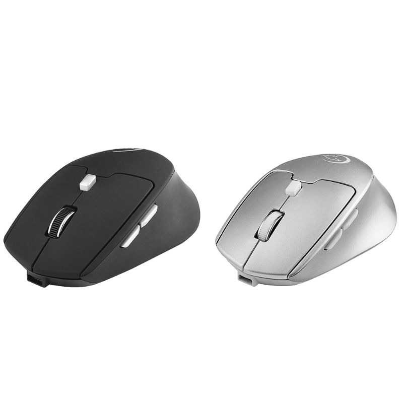 [해외]Wireless Bluetooth Gaming Mouse 2.4G 2400DPI Rechargeable Mice Dual Mode USB Receiver Portable Optical for Apple Mac PC Tablet /Wireless Bluetooth