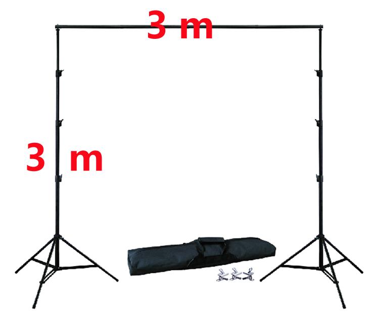 [해외]10Ft X 10Ft 무료 배경 홀더 3M X 3M 조정 가능한 배경 스탠드 키트 4pcs 클램프 1pc 휴대용 가방/10Ft X 10Ft FREE BACKGROUND HOLDER 3M X 3M Adjustable Background Stand Kit 4pcs