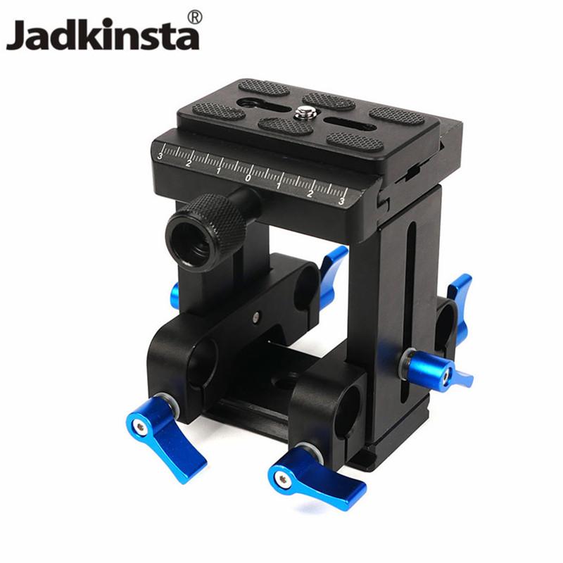 [해외]/Jadkinsta Universal Camera Quick Release Plate PU-60 15mm Rod Rig Rail System Clamp1/4 for Canon for Nikon 25mm Length Rod