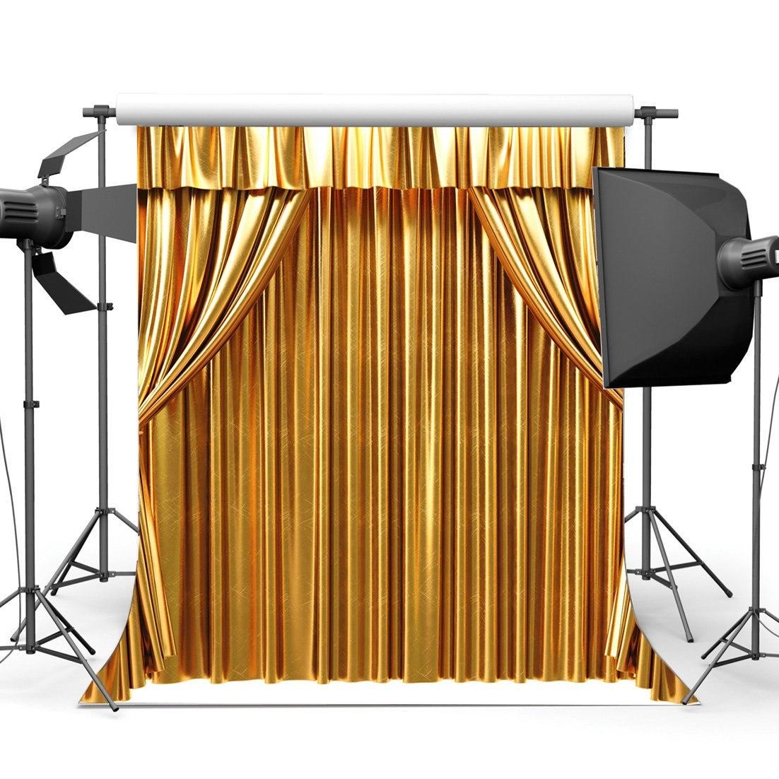 [해외]/Golden Curtain Backdrop Theatre Show Backdrops Home Interior Decoration Wallpaper Photography Background