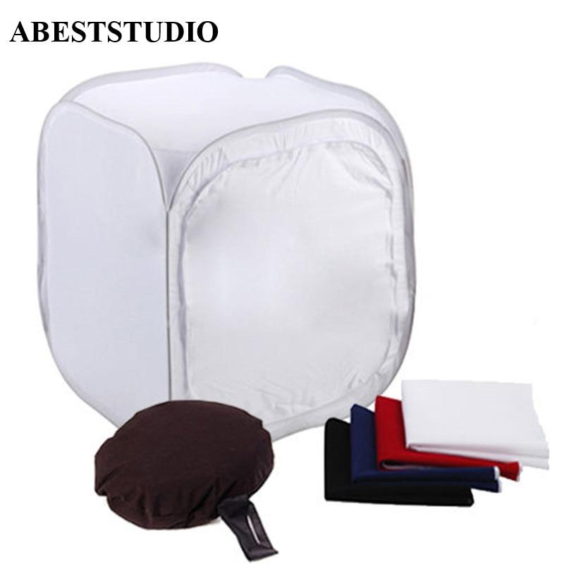 [해외]ABESTSTUDIO 60 X 60cm Photo Studio Softbox Photo Tent Softbox Box Photo Light Tent+portable Bag+ 4 Backdrops Color Contact Le/ABESTSTUDIO 60 X 60c