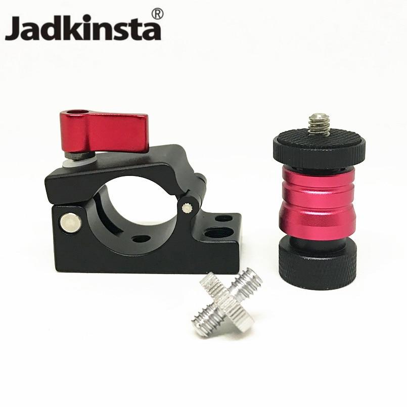 [해외]Jadkinsta Tripod Heads 1/4 Mini Ball Head Quick Release Adapter25mm Pipe Clamps for DJI Ronin MX LCD Monitor              /Jadkinsta Tripod Heads