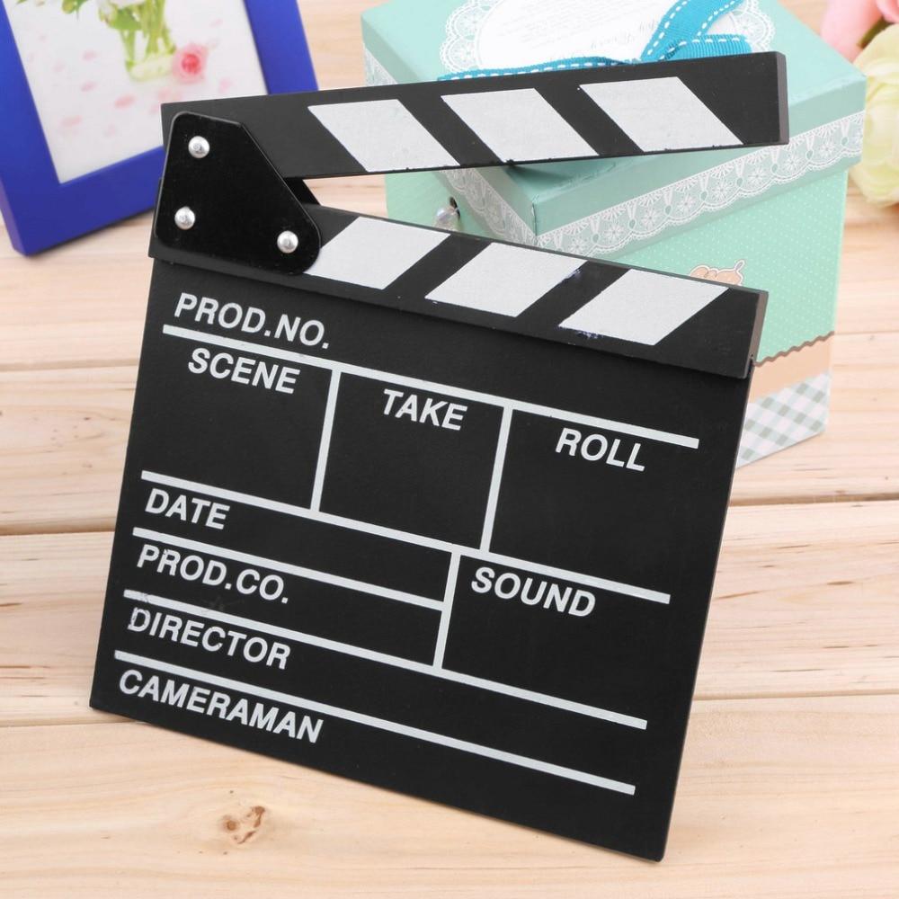 [해외]1pc Director Video Scene Clapperboard TV Movie Clapper Board Film Cut Prop Newest/1pc Director Video Scene Clapperboard TV Movie Clapper Board Fil