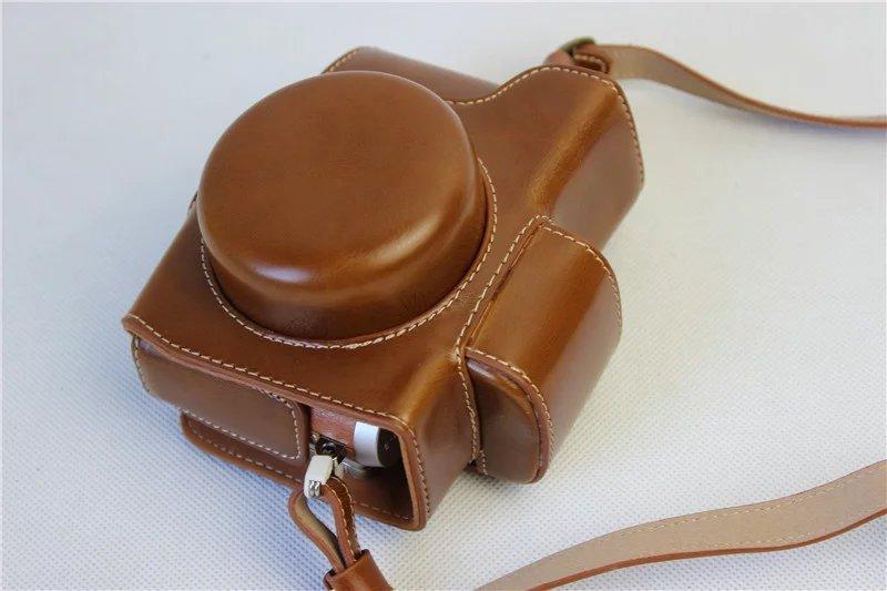 [해외]Factory High quality PU Leather Camera Bag Luxury Vintage Case Coverstrap For Olympus EPL8 EPL-8 World Brown/Factory High quality PU Leather Camer