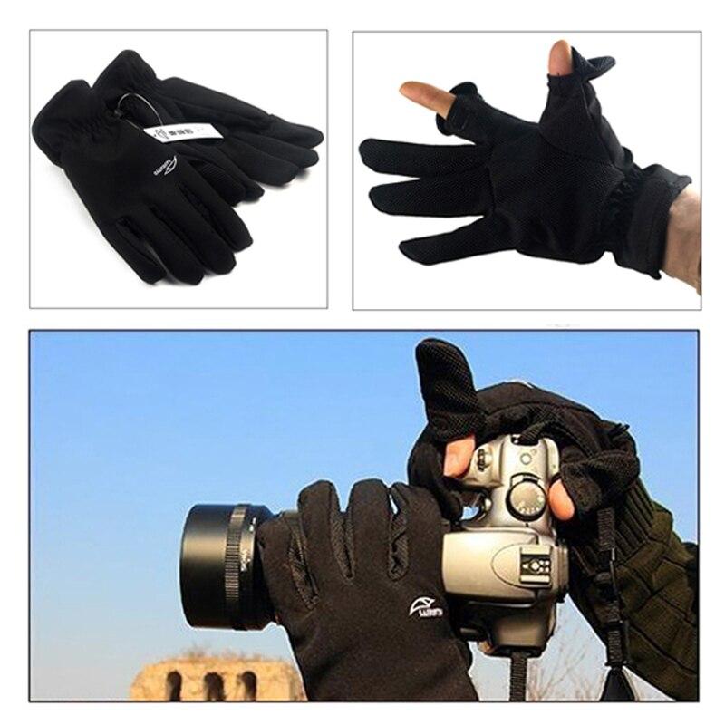 [해외]Roadfisher Waterproof Womens Mens Outdoor Fishing Thick DSLR SLR Camera Photography Gloves Winter Warm Anti-Slip Half Finger/Roadfisher Waterproof