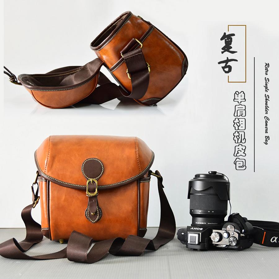 [해외]PU Leather Camera Bag case For Canon EOS M100 200D 760D 750D 1300D 1100D 1200D 700D 600D 450D 550D T5 T5i SX530 shoulder pouch/PU Leather Camera B