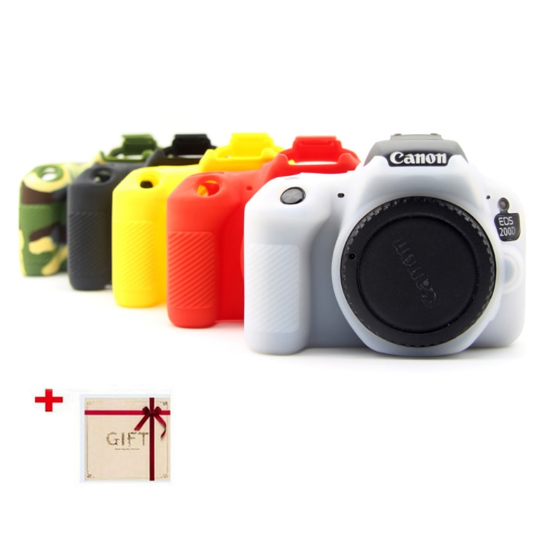 [해외]Silicone Rubber Camera case Protective Body Cover Skin For  For Canon EOS 200D Kiss X9  Rebel SL2 soft bag pouchlens pen/Silicone Rubber Camera ca