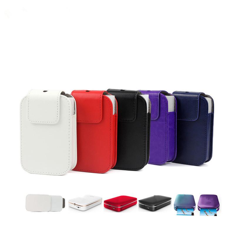 [해외]1PC Fashion PU Leather Waterproof Travel Storage Carrying Case Protective Cover Bag Pouch for HP Sprocket Photo Camera Printer/1PC Fashion PU Leat