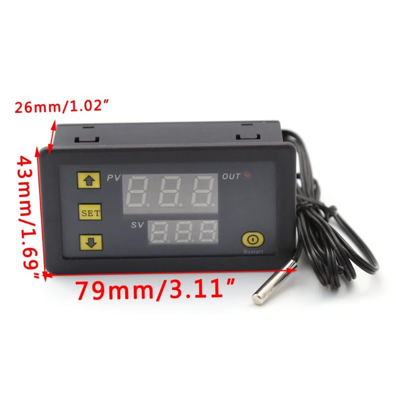 [해외]10A 12V LCD 디지털 온도 컨트롤러 온도 센서 서모 스탯 제어 릴레이/10A 12V LCD Digital Temperature Controller Temp Sensor Thermostat Control Relay