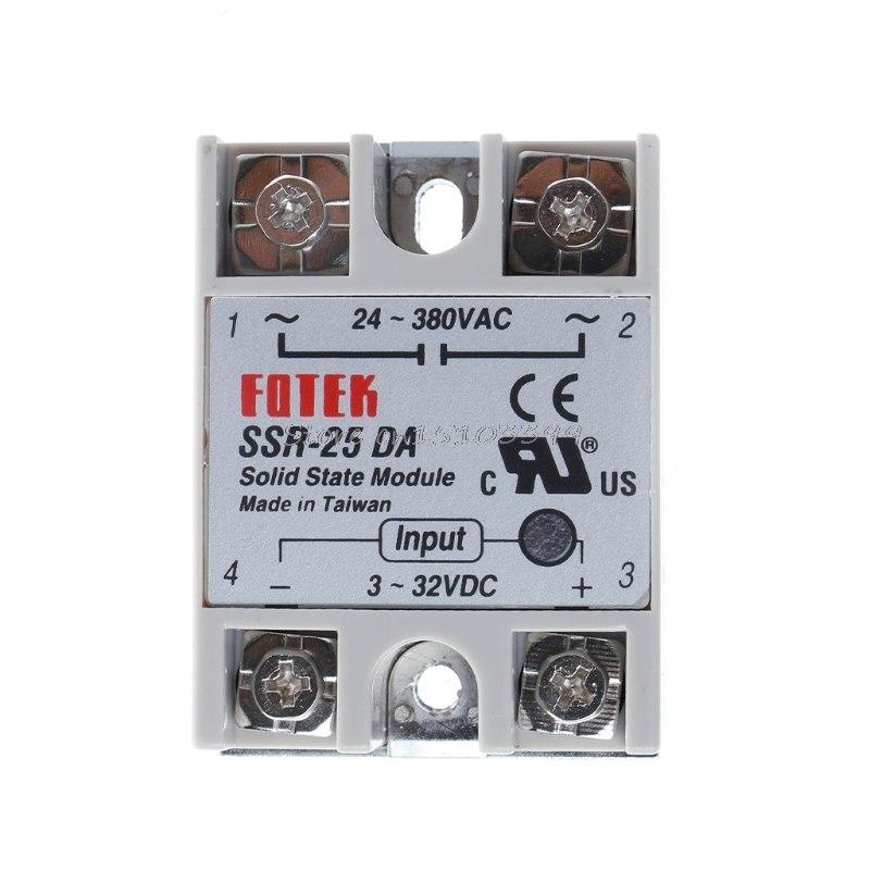 [해외]솔리드 스테이트 릴레이 모듈 SSR-25DA 25A / 250V 3-32V DC 입력 24-380VAC 출력 164 개 고객 리뷰 기준 4.9 / 5 G205M/Solid State Relay Module SSR-25DA 25A /250V 3-32V DC Inp