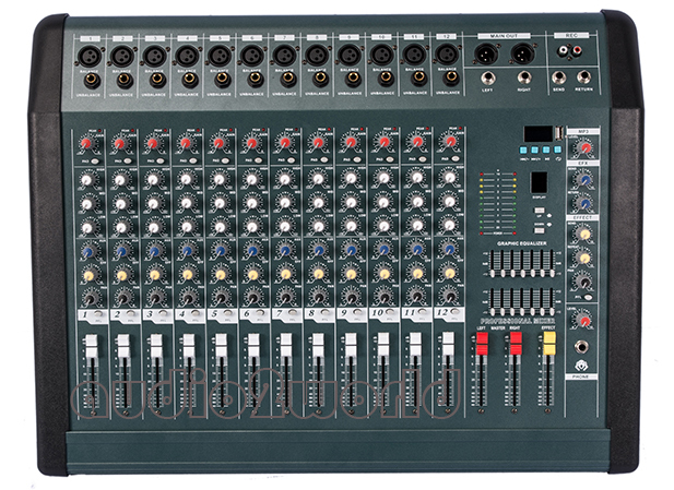 [해외]NEW MX1208D 전문 오디오 DJ 믹서 12 채널 Mezcladora 드 DJ 전력 증폭기 350Wx2/NEW MX1208D Professional Audio DJ Mixer 12 Channels Mezcladora De DJ Power Amplifier