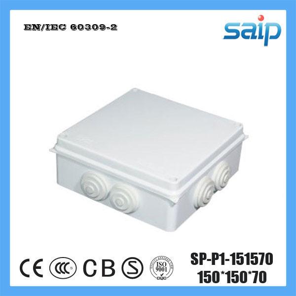 [해외]SAIP ABS 재질의 스위치 접점 Box7 구멍 SP-P1-151570 150 * 150 * 70/Saip ABS Material Switch Junction Box7 Holes SP-P1-151570 150*150*70