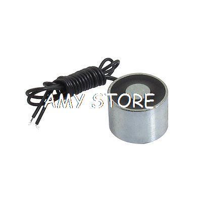 [해외]2.2mm의 스레드 500gf 라운드 솔레노이드 전자석 DC 24V 0.05A의 장착/2.2mm Mounting Thread 500gf Round Solenoid Electromagnet DC 24V 0.05A