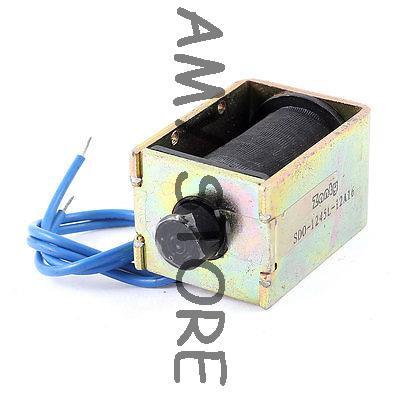 [해외]12V 0.75A 9W 전원 10mm / 350g 잡아 당기기 유형 오픈 프레임 DC 솔레노이드 전자석/12V 0.75A 9W Power 10mm/350g Pull Type Open Frame DC Solenoid Electromagnet