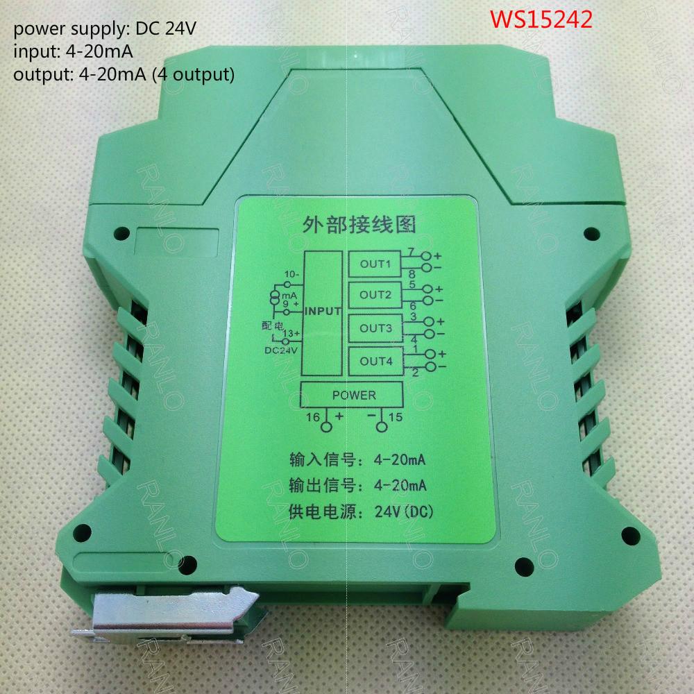 [해외]WS15242 유니버설 (1 입력 / 4-20mA, 4 출력 / 4-20mA) 신호 변환기, DC24V 전원 공급 장치입니다/WS15242 Universal  Isolated Signal Converter, DC24V power supply ( 1 input /