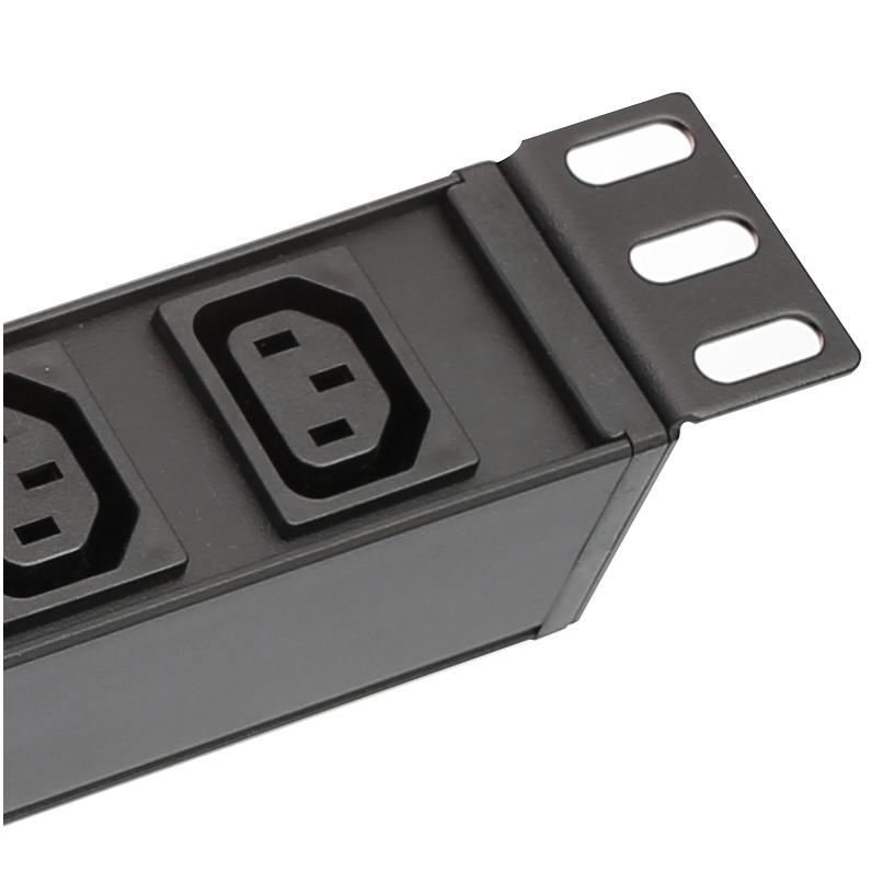 [해외]랙 마운트 8 출구 10A IEC320 C13 PDU 전원 분배 UnitCircuit 차단기 및 SPD -Surge 보호 장치/Rackmount 8 outlet 10A IEC320 C13 PDU Power Distribution UnitCircuit Breake