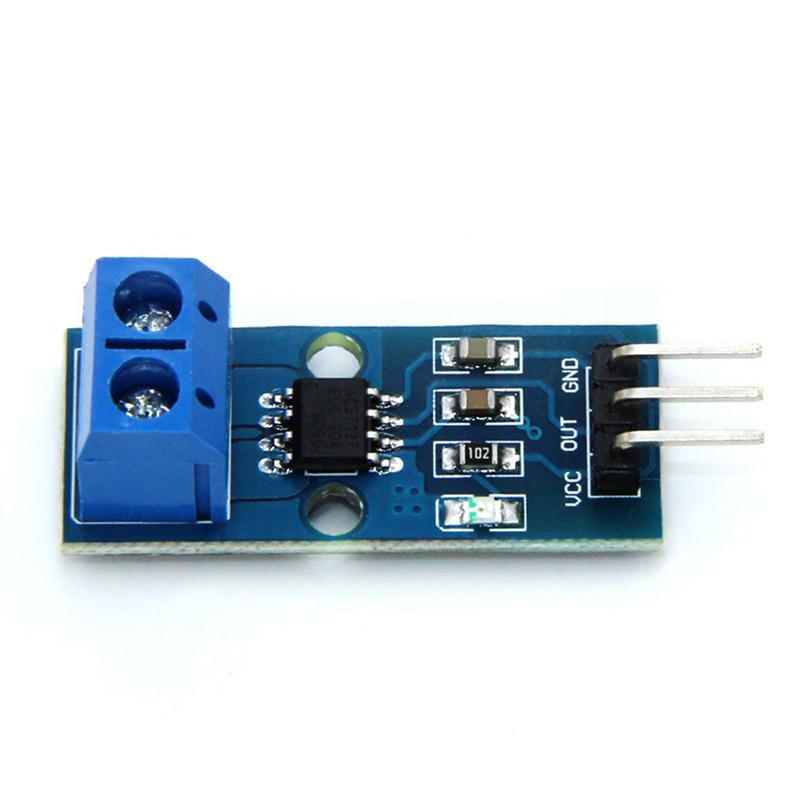 [해외]홀 전류 센서 모듈 칩 ACS712 ELCTR 20A ArduinoSize 용 모델 27.2 X12 X14mm/Hall Current Sensor Module Chip ACS712 ELCTR 20A  Model for ArduinoSize 27.2 X12 X14