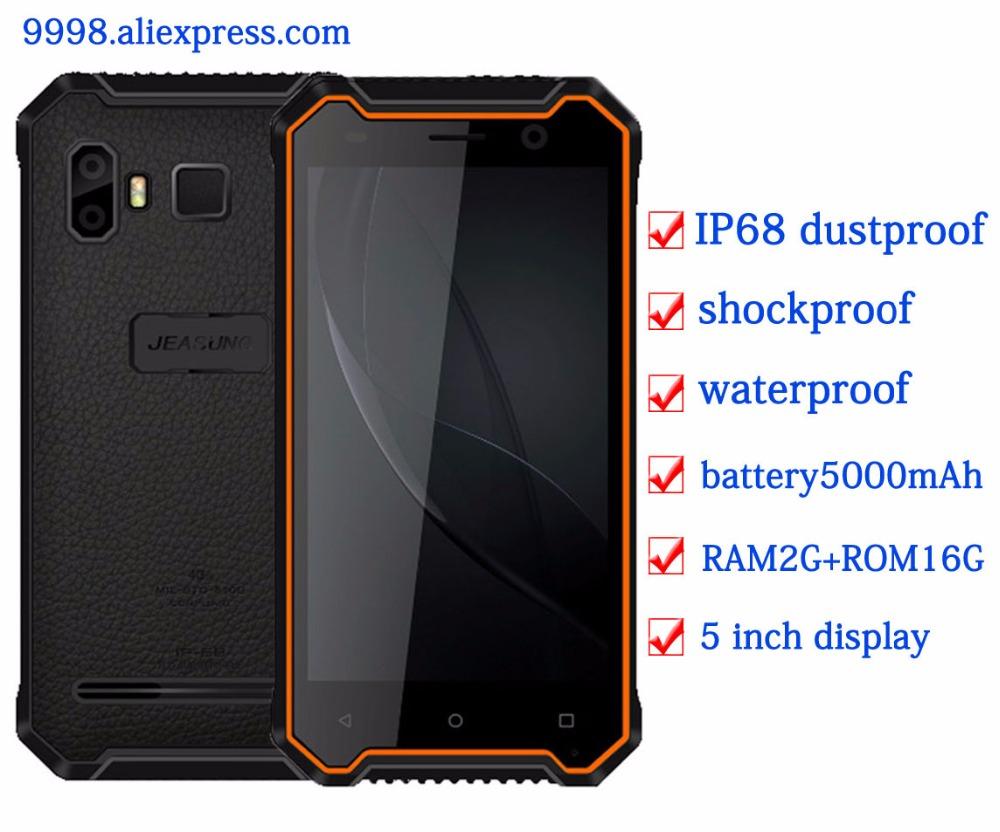 [해외]JEASUNG P8 방수 신형 휴대 전화 IP68 4G 내충격 2G RAM 16GB ROM 스마트 폰 5 & FDD LTE Fingerprint IP67 OEM S10/JEASUNG P8 Waterproof new Rugged mobile phone IP