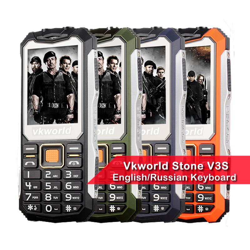[해외]러시아어 키보드 VKWorld 스톤 V3S 2.4 인치 방수 Dropproof 방진 휴대 전화 듀얼 LED 가벼운 FM 듀얼 SIM 핸드폰/Russian Keyboard VKWorld Stone V3S 2.4 inch Waterproof Dropproof Dus