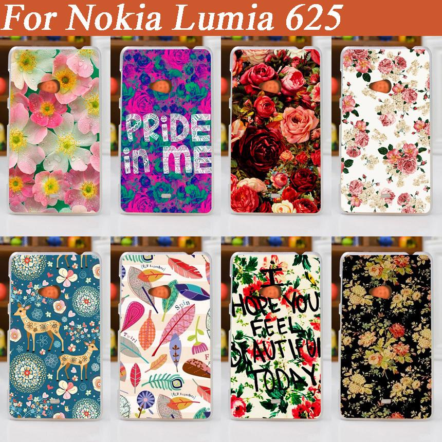 [해외]노키아 루미아 625 / DIY 컬러 케이스 노키아 루미아 625 N625 NOKIA 625 커버에 아름 다운 꽃 케이스 커버를 그림 Hot (11) 패턴/hot 11 Patterns painting beautiful flower Case Cover for no