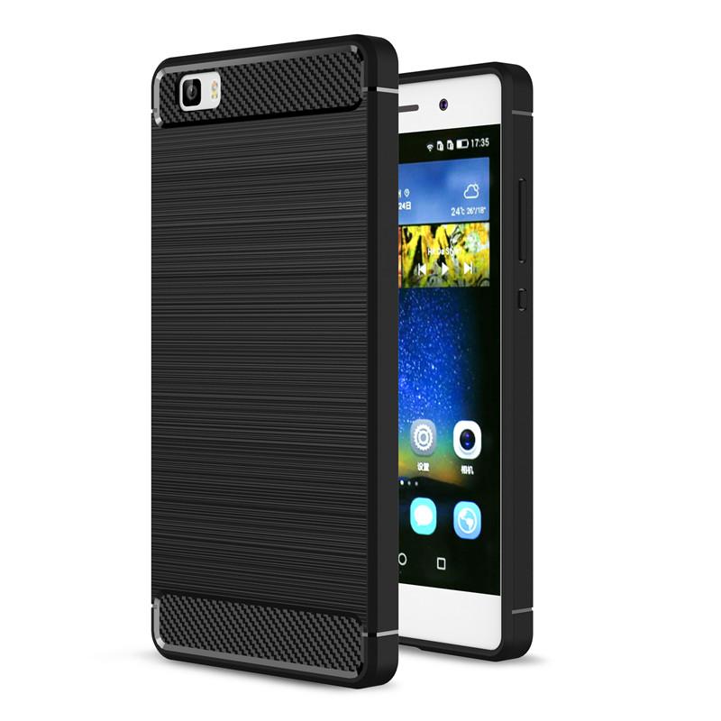 [해외]화웨이 P8 라이트 케이스 P8 커버에 대한 럭셔리 충격 방지 탄소 섬유 뒤 표지 P8 라이트 케이스 화웨이 P8 들어 고무 전화 케이스/For Huawei P8 Lite Case P8 cover Luxury Shockproof Carbon Fiber Back