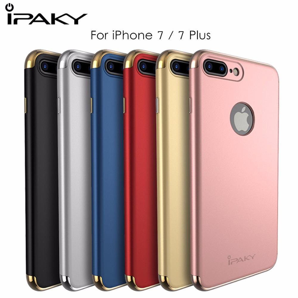 [해외]애플 아이폰 7 플러스 레드 케이스 메탈리스 프레임 PC 하드 3 아이폰 플러스 커버 보호 쉴드 1 하이브리드 케이스에 대한 iPaky 커버/iPaky Cover for Apple iPhone 7 Plus Red Case Metallice Frame PC Har