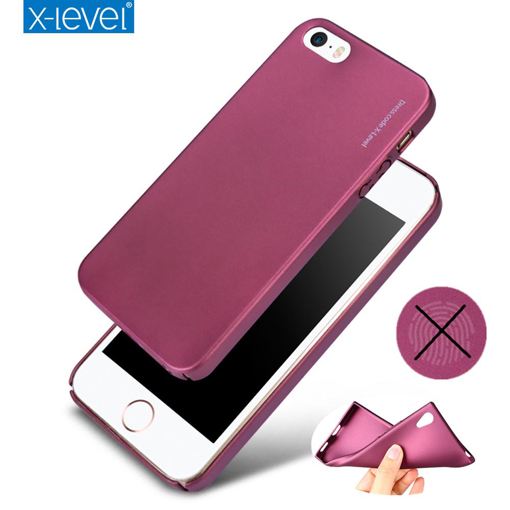 [해외]아이폰에 대 한 5 5S 서 리 낀된 실리콘 케이스 X- 레벨 가디언 아이폰 5 5S SE에 대 한 매우 얇은 부드러운 매트 TPU 케이스 뒤 커버/for iPhone SE 5 5S Frosted Silicone Case X-Level Guardian Ultra
