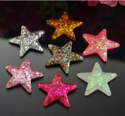 [해외]어린이 헤어 액세서리 전화 홈 장식 수지 카보 숑을25pcs / lot 평면 평면 starglitter/New arrival 25pcs/lot flatback starglitter for children hair accessories phone home deco