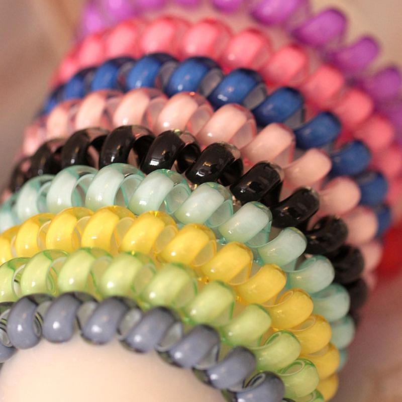 [해외]15pcs 패션 꼰된 헤어 액세서리 도구 여자를귀여운 사탕 색 머리 밧줄 전화선 헤어 밧줄/15pcs Fashion Braided Hair Accessories Tool Cute Candy Color Hair Rope Telephone Wire Line Hair