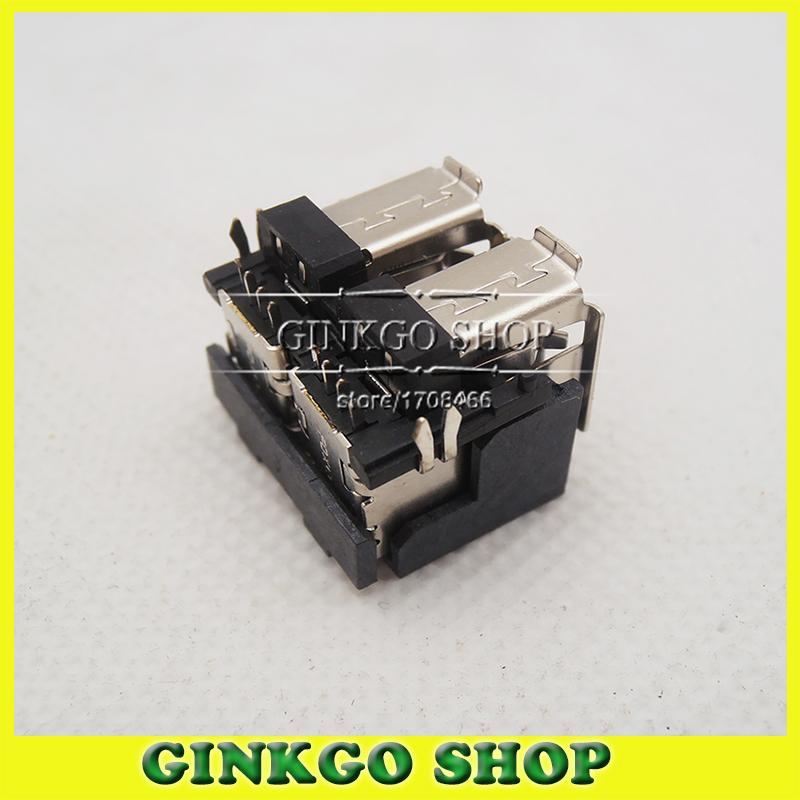 [해외]DELL의 D620의 D630에 대한 5PCS / 많은 두 번 USB 커넥터 잭 더블 USB 포트 Sockect/5pcs/lot Double USB Connector Jack Double USB Sockect Port for DELL D620 D630